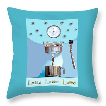 Fantasy Espresso Machine Throw Pillow
