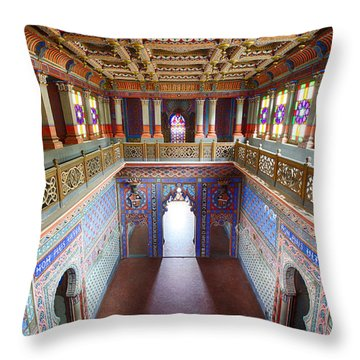 Fantasy Fairytale Palace - Patio Throw Pillow by Dirk Ercken
