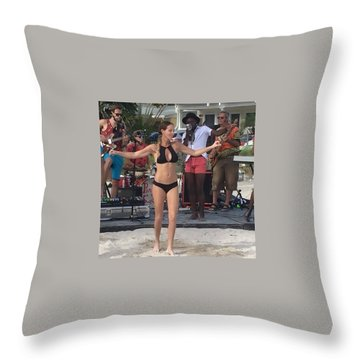 Fantasy Fest 2016 Throw Pillow by Lisa Piper
