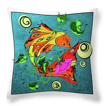 Fantasy Fish Throw Pillow