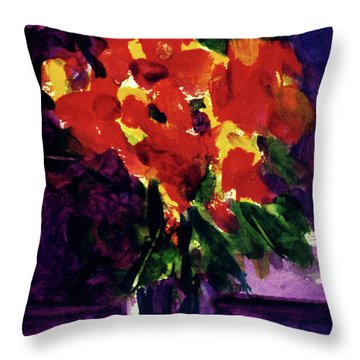 Fantasy Flowers  #107, Throw Pillow by Donald k Hall