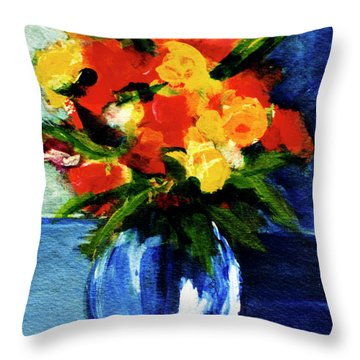 Fantasy Flowers #117 Throw Pillow by Donald k Hall