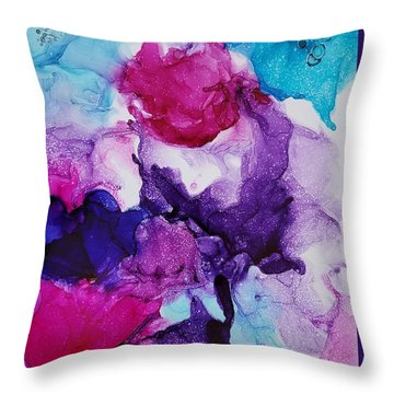 Fantasy Flowers Throw Pillow