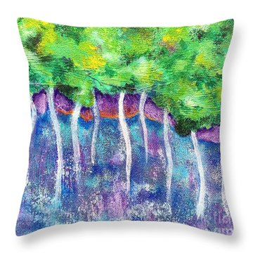 Fantasy Forest Throw Pillow by Elizabeth Fontaine-Barr