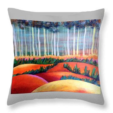 Through The Mist Throw Pillow by Elizabeth Fontaine-Barr