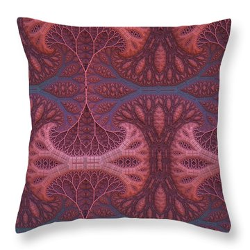 Throw Pillow featuring the digital art Fantasy Forest by Lyle Hatch
