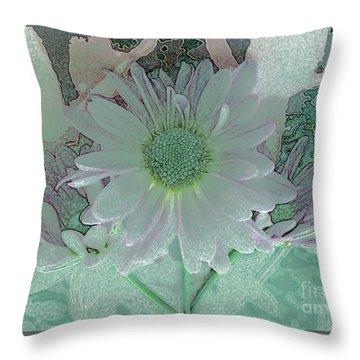Fantasy Garden Throw Pillow by Barbie Corbett-Newmin