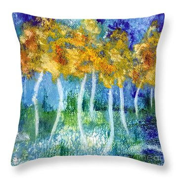Fantasy Glade Throw Pillow by Elizabeth Fontaine-Barr