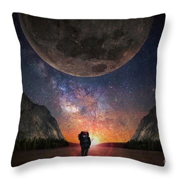 Fantasy Hike Throw Pillow