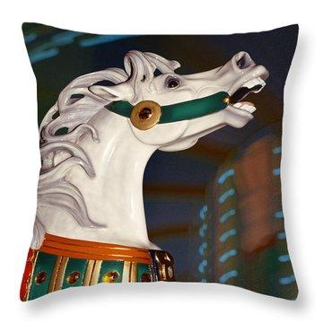 fantasy horses - Dappled Gray Dancer Throw Pillow