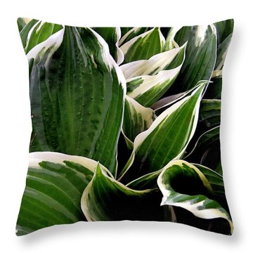 Fantasy In White And Green Throw Pillow