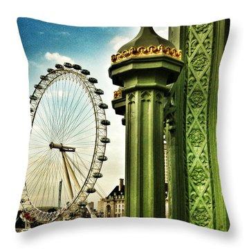 Fantasy London Throw Pillow