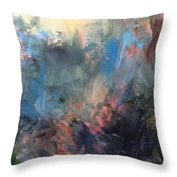 Throw Pillow featuring the painting Fantasy by Mary Lynne Powers