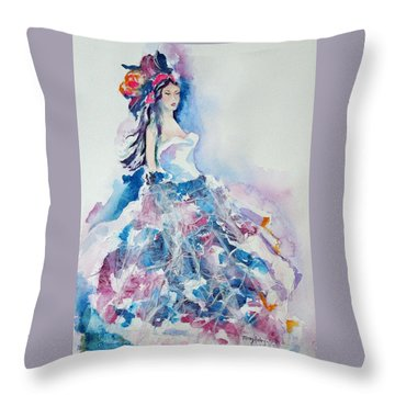 Fantasy Mist Throw Pillow