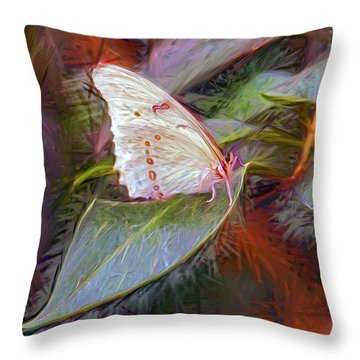 Fantasy Palace Throw Pillow by James Steele