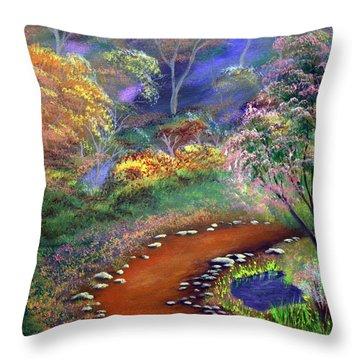 Fantasy Path Throw Pillow