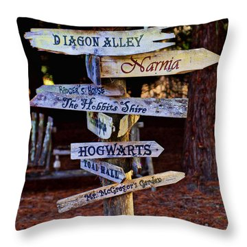 Fantasy Signs Throw Pillow by Garry Gay