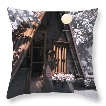 Fantasy Wooden House Throw Pillow