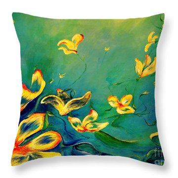 Fantasy World Throw Pillow by Teresa Wegrzyn