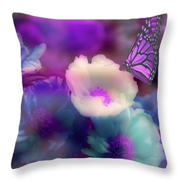 Fantasy's Garden Throw Pillow