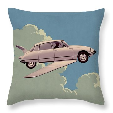 Fantomas 1965 - Right Panel Throw Pillow by Udo Linke