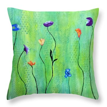 Far A Field Throw Pillow by Patricia Cleasby