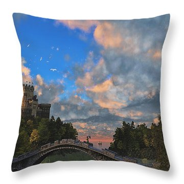 Far Away Place Throw Pillow