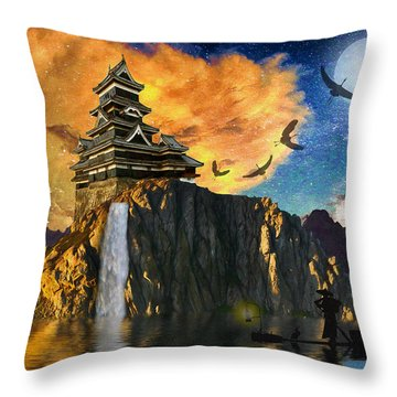 Far Away To The East Throw Pillow