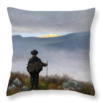 Far Far Away Soria Moria Palace Shimmered Like Gold Throw Pillow