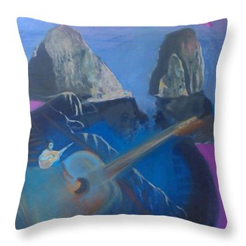 Faraglioni Serenade Throw Pillow
