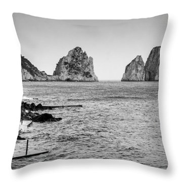 Faraglioni Throw Pillow