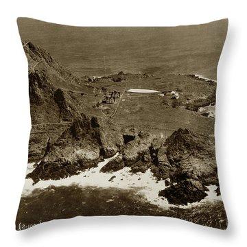 Farallon Island Lighthouse Pacific Ocean April 4, 1924 Throw Pillow