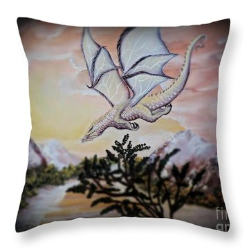Faranth Throw Pillow by Dianna Lewis