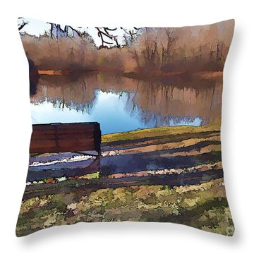 Throw Pillow featuring the photograph Farewell Fishing by Betsy Zimmerli