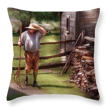 Farm - Farmer - Chores Throw Pillow