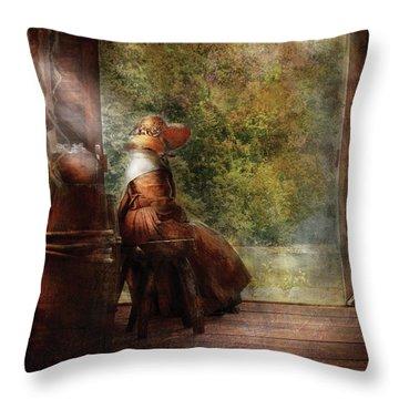 Farm - Farmer - Mother Throw Pillow by Mike Savad