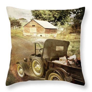 Farm Delivered Throw Pillow