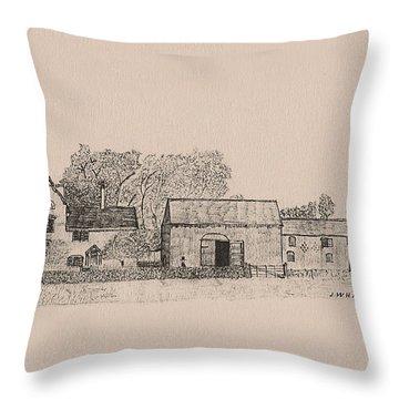 Farm Dwellings Throw Pillow