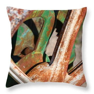 Throw Pillow featuring the photograph Farm Equipment 2 by Ely Arsha