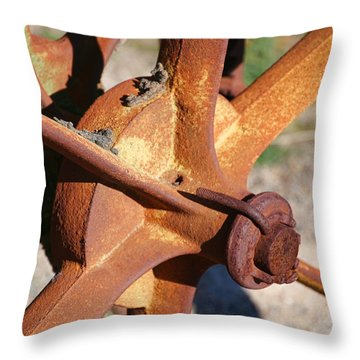 Throw Pillow featuring the photograph Farm Equipment 3 by Ely Arsha