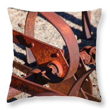 Throw Pillow featuring the photograph Farm Equipment 4 by Ely Arsha