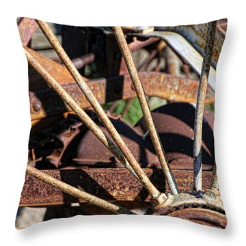 Throw Pillow featuring the photograph Farm Equipment 5 by Ely Arsha