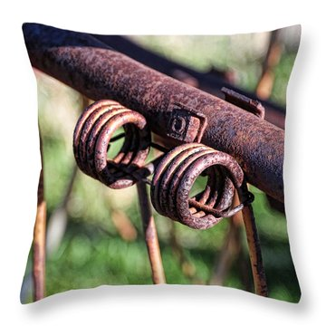Throw Pillow featuring the photograph Farm Equipment 6 by Ely Arsha
