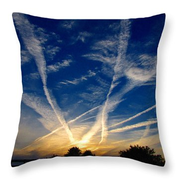 Throw Pillow featuring the photograph Farm Evening Skies by Rick Morgan