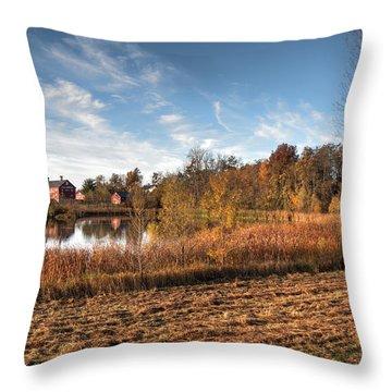 Farm Fall Colors Throw Pillow