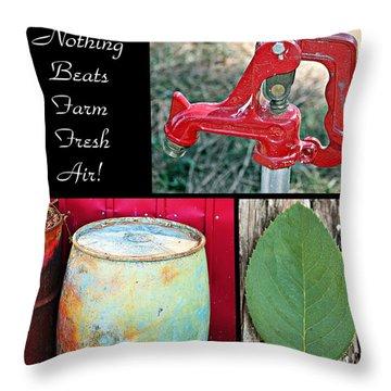 Throw Pillow featuring the photograph Farm Fresh Air- Fine Art by KayeCee Spain