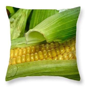 Farm Fresh Throw Pillow by Gwyn Newcombe