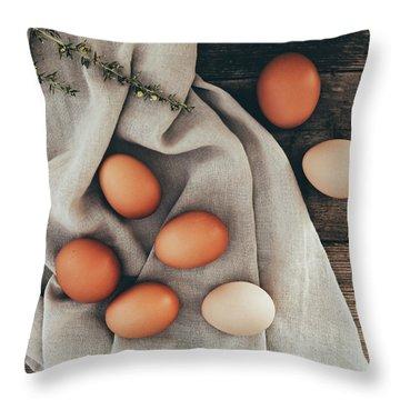 Throw Pillow featuring the photograph Farm Fresh by Kim Hojnacki