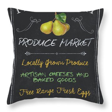Farm Fresh Produce Throw Pillow