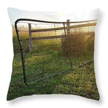 Farm Gate Throw Pillow
